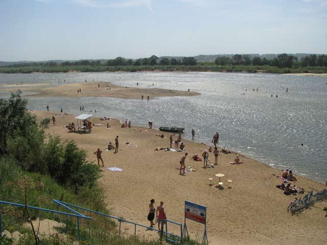 Пляж пансионата Соколова пустынь