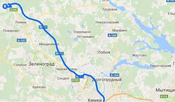 карта Савельево на Ленинградке