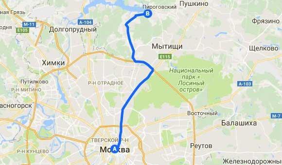 карта Савельево Пирогово
