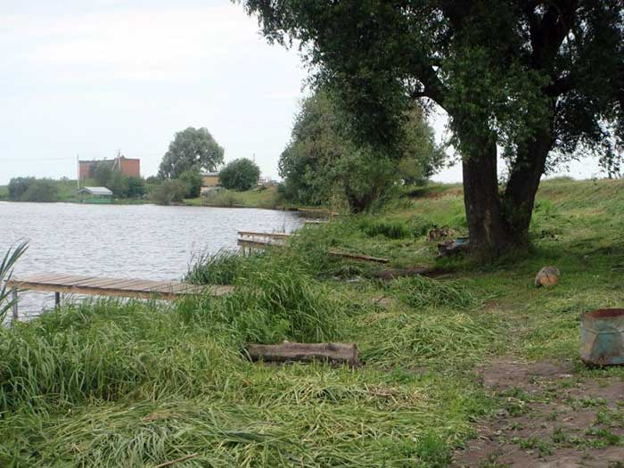 Мостки для рыбалки на озере Игумново