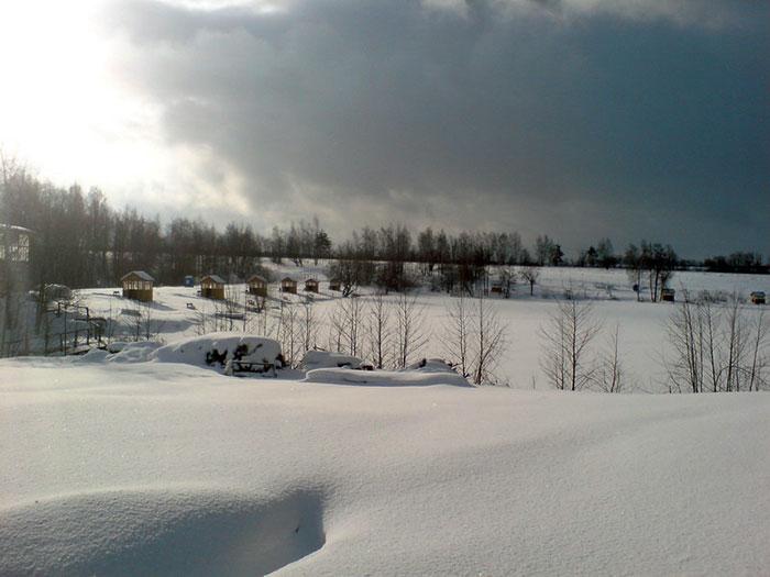 Зимой на базе Велинка
