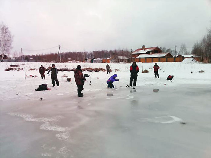 Зимняя рыбалка в Запрудном