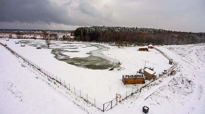 Платный пруд в Шапкино